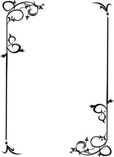 Border design for form or page Borders For Paper, Borders And Frames, Arabesque, Page Borders, Motif Floral, Border Design, Book Of Shadows, Paper Background, Pyrography