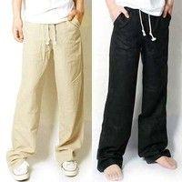 Men's Cubavera Drawstring Elastic Linen Pants - C850063 | wedding ...