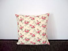 Pink Red Rose Decorative Pillow Cover 20 x 20 by PillowsCamilla, $19.00