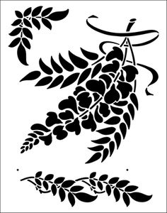 Wisteria stencil from The Stencil Library BUDGET STENCILS range. Buy stencils online. Stencil code TP29.