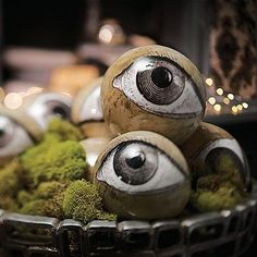 Set of Eight Eyeball Orbs
