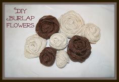 Easy DIY burlap flowers