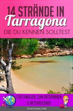 Strandurlaub in Tarragona, Spanien gefällig? Wir nehmen dich mit an die schönsten Buchten und Strände Tarragonas. Die 14 schönsten Strände und Badebuchten in und um Tarragona an der Costa Dorada in Katalonien #Vickiviaja Day Trips, Sevilla Spain, Environment, Travel Advice, Viajes