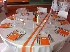 décoration blanche et orange