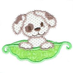 Pea Pod Babes - set of 9 - Free machine embroidery designs - Kreative Kiwi