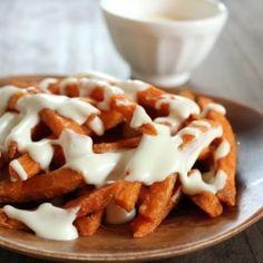 Gouda Sauce for Sweet Potato Cheese Fries