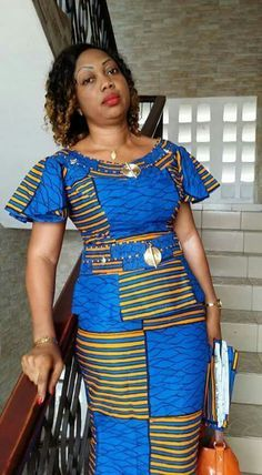 peplum ankara skirt and blouse: check out 25 + creatve and stunnng peplum ankara skirt and blouse styles to Rock to church Latest African Fashion Dresses, African Dresses For Women, African Print Dresses, African Print Fashion, Africa Fashion, African Attire, African Wear, African Women, Kitenge