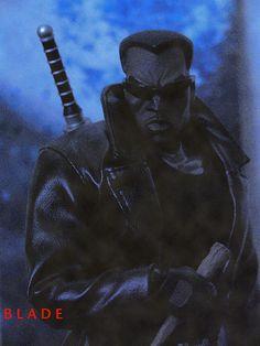 Blade - Vampire Hunter | Flickr - Photo Sharing! Marvel Comics Art, Marvel Fan, Marvel Heroes, Black Characters, Comic Book Characters, Comic Books, Eric Brooks, Blade Marvel, Marvel And Dc Crossover