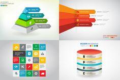 8 Vector Info graphics  set by VL Shop on Creative Market
