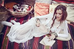 Find Country Hippie Girl Reading Book stock images in HD and millions of other royalty-free stock photos, illustrations and vectors in the Shutterstock collection. Thousands of new, high-quality pictures added every day. Gypsy Style, Bohemian Style, Boho, Bohemian Clothing, Tartan Scarf, Bohemian Summer, Girl Reading, Lace Maxi, Fashion Essentials