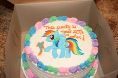 rainbow dash cake - my little pony
