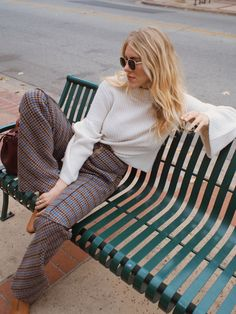 Bell Sleeves and Plaid Pants — TAYLR ANNE