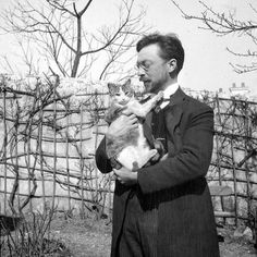 Bauhaus Movement Wassily Kandinsky and his cat Vaska.