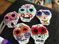 Crochet Sugar Skulls... ♥ By emybloom