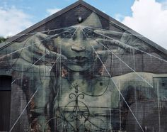 """by Faith47 - New mural """"Oh The Miracle Of Empty Hands"""" - Glasgow, Scotland - 09.07.2014 / Close-up"""