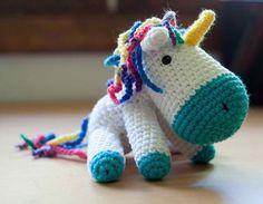 Handmade Crochet Unicorn Amigurumi Stuffed Animal