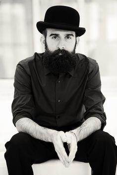 thebeardbaron Johnny Holiday - full thick black beard and mustache beards  bearded man men mens  dce04a634a4