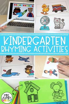 Rhyming is such an important phonological awareness skill to work on in kindergarten. In this post, I share how to teach phonological awareness, and some of my favorite phonological awareness activities for teaching rhyming.