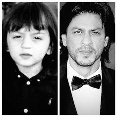 Papa's boy: This collage of Shah Rukh Khan and AbRam is cute beyond measure