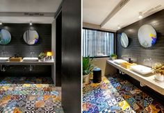 Tutti pazzi per gli #azulejos (io di sicuro) | Le piastrelle in ceramica portoghesi per il #bagno [Coloured portuguese tiles]