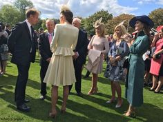 hrhduchesskate:  Garden Party, Buckingham Palace, May 24, 2016-Duchess of Cambridge with Getty Images photographer Chris Jackson, her PA Natasha Archer and her hair stylist Amanda Cook-Tucker among the guests.