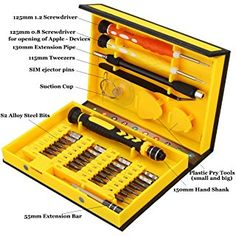 Professional 38 in 1 Screwdriver Set - Repair Tools Kit Screwdriver Hand Tools Kit, ONCHOICE Able to Repair Open Fix iPhone Laptop Smartphone MacBook Xbox with Portable Case