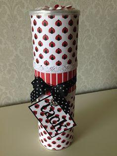 Randis hobbyverden: Pringles gaveboks nr 4 (med marihöne/nyckelpiga)