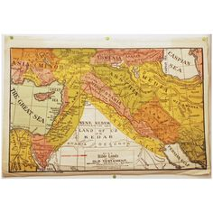 1920s Map Of Ancient Holy Land byOld School Maps