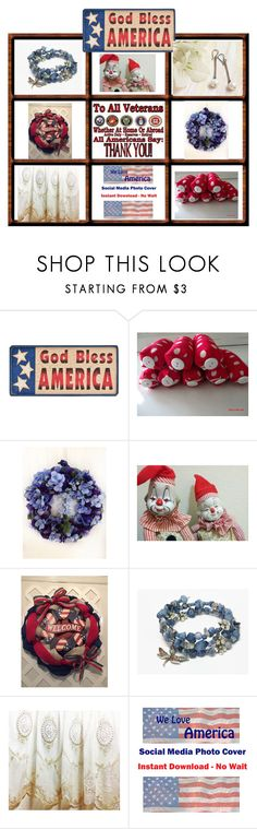 * * God Bless America * * by elsiescreativedesign on Polyvore featuring giftforher, epiconetsy, EtsyTeamUnity and etsychaching