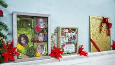 Paige Hemmis is making her own shadowbox for the holidays using Christmas cards and photos. Christmas Elf, Family Christmas, Christmas Crafts, Christmas Decorations, Holiday Decor, Home And Family Crafts, Home And Family Hallmark, Hallmark Homes, Diy Shadow Box