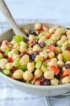 Chickpea and Edamame Salad | www.motherthyme.com