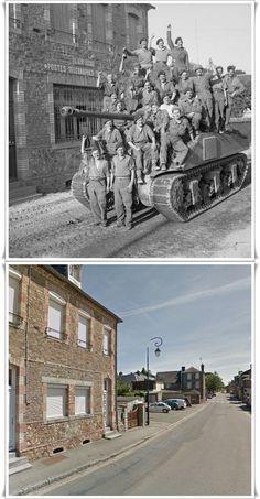 equipaggi di carri Sherman Firefly celebrano la cattura di Le Beny Bocage, 1 ago 1944 #NORMANDIA1944