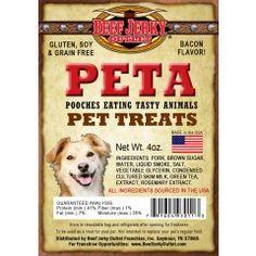 PETA Pet Treats - even our sweet pooches deserve a fun treat from the Beef Jerky Outlet Greenville, SC! Best Beef Jerky, Pet Treats, Venison, Good Ol, Peta, Yummy Snacks, Mall, Sweet, Fun