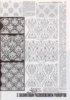 "Photo from album ""Дуплет 181 on Yandex. Crochet Stitches Chart, Crochet Diagram, Filet Crochet, Irish Crochet, Crochet Motif, Crochet Doilies, Knit Crochet, Lace Patterns, Stitch Patterns"