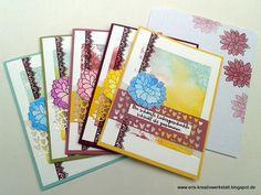 #Schubladenschachtel mit #Grußkarten als #Geschenk   http://eris-kreativwerkstatt.blogspot.de/2017/01/schubladenschachtel-mit-grukarten-als.html  #stampinup #teamstampingart #karte #geburtstag #verpackung