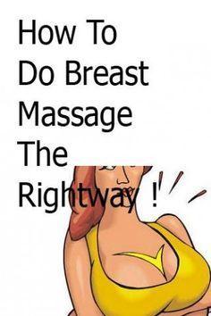 Right bigger boob massage