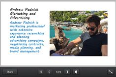 Andrew Padnick Advertising and Marketing Professional -  SlideSnack http://share.snacktools.com/975DCFAF8D6/bhiso5a3 #andrewpadnick #andrew #padnick