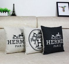 Cozy Hermes pillows... #paris