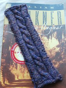 By the Porchlight: Cabled Bookmark Knitting Pattern