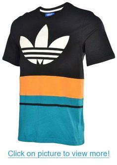 Adidas Originals Men's Art Blocked T-shirt-Black/Blastemer
