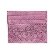 Bottega Veneta Intrecciato Snake Skin Card Holder