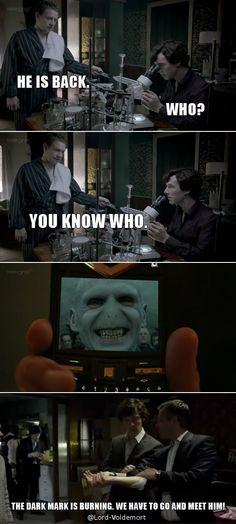 We have Sherlock and Lestrange. Mu ha ha