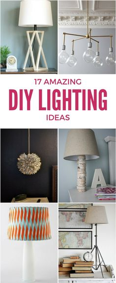 Light fixtures and lamps can be SO expensive, but they don't have to be! These DIY lighting ideas are amazing and are easy on your budget!