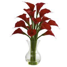 Galla Calla Lily w-Vase Arrangement