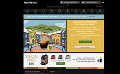 UK website for Nespresso highlighting the limited edition flavour. Coffee Tasting, Pos, Nespresso, Olympics, Herbalism, Fragrance, Website, Herbal Medicine, Perfume