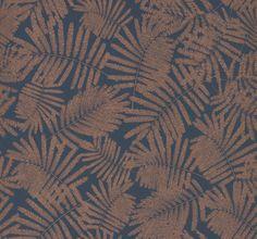 Espinillo Indigo / Copper wallpaper by Clarissa Hulse