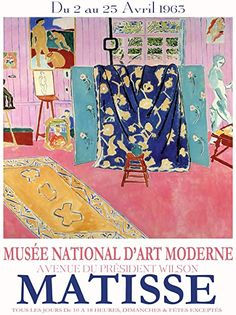 Poster exhibition Matisse in 1963 Matisse Kunst, Matisse Prints, Matisse Art, Henri Matisse, Retro Poster, Vintage Posters, Painting Inspiration, Art Inspo, Musée National D'art Moderne