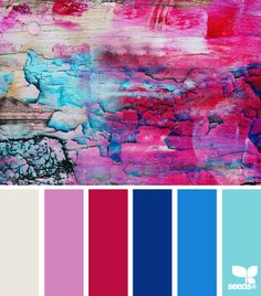 eroded brights - Design Seeds - pink, red, blue, turquoise
