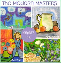 Teaches about famous paintings from the Masters: Van Gogh, Chagall, Cezanne and Matisse. Helps students understand their styles so that they can be inspired to reproduce their own paintings.