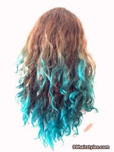 colorful curly hairstyle - 99 Hairstyles Ideas